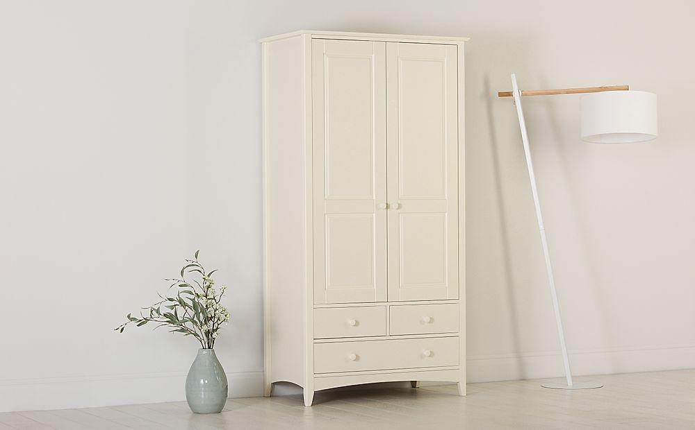 Chatham Stone White 2 Door 3 Drawer Wardrobe