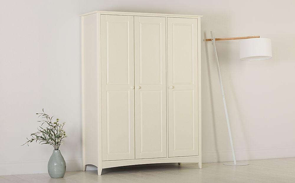 Chatham Stone White 3 Door Wardrobe