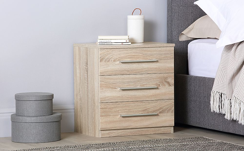 Rauch Vereno Oak 3 Drawer Bedside Table