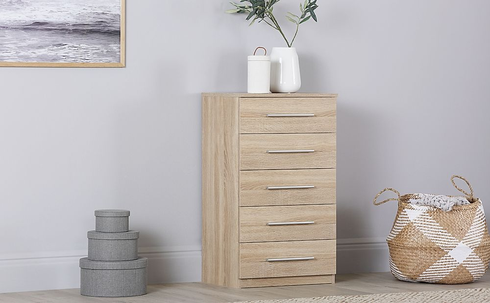 Rauch Vereno Oak 5 Drawer Chest of Drawers