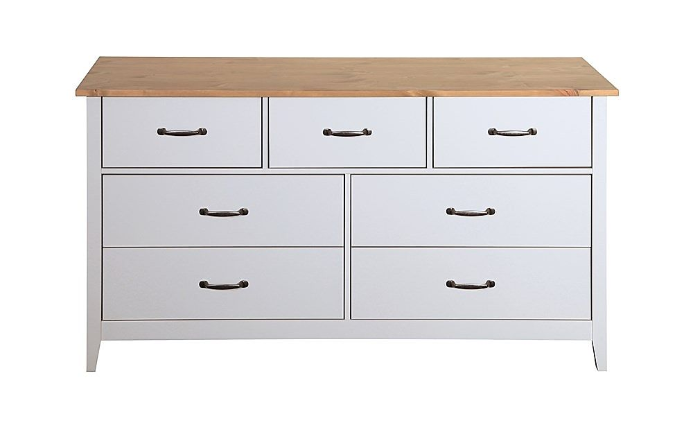 Norfolk Grey and Oak 4 + 3 Drawer Chest of Drawers