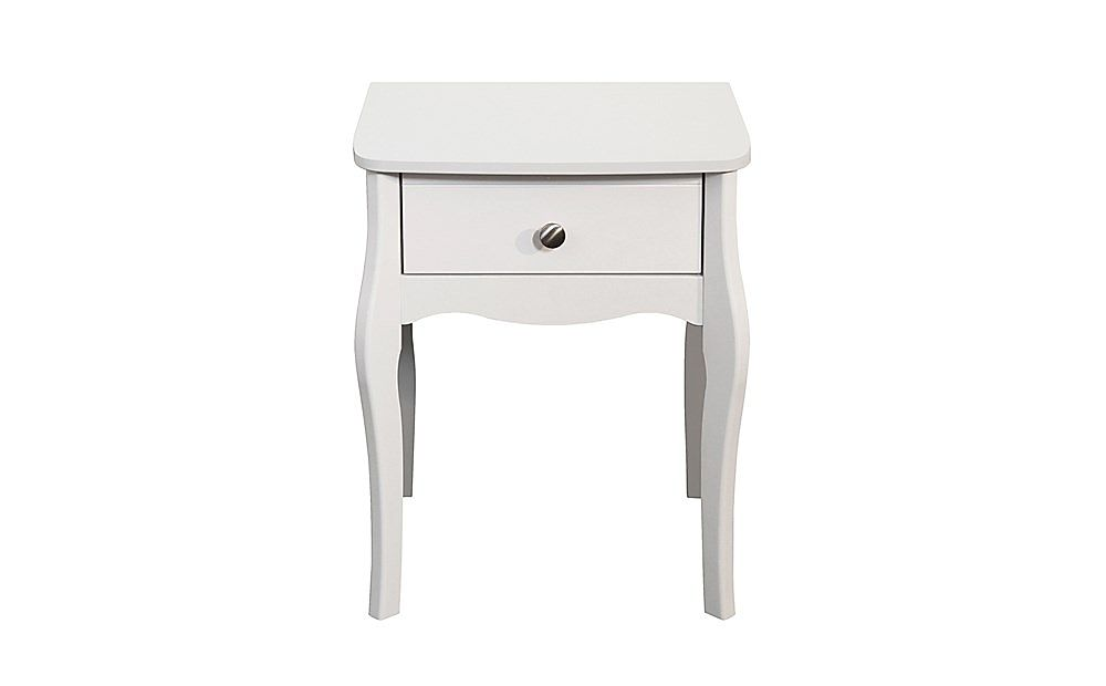 Baroque White 1 Drawer Bedside Table