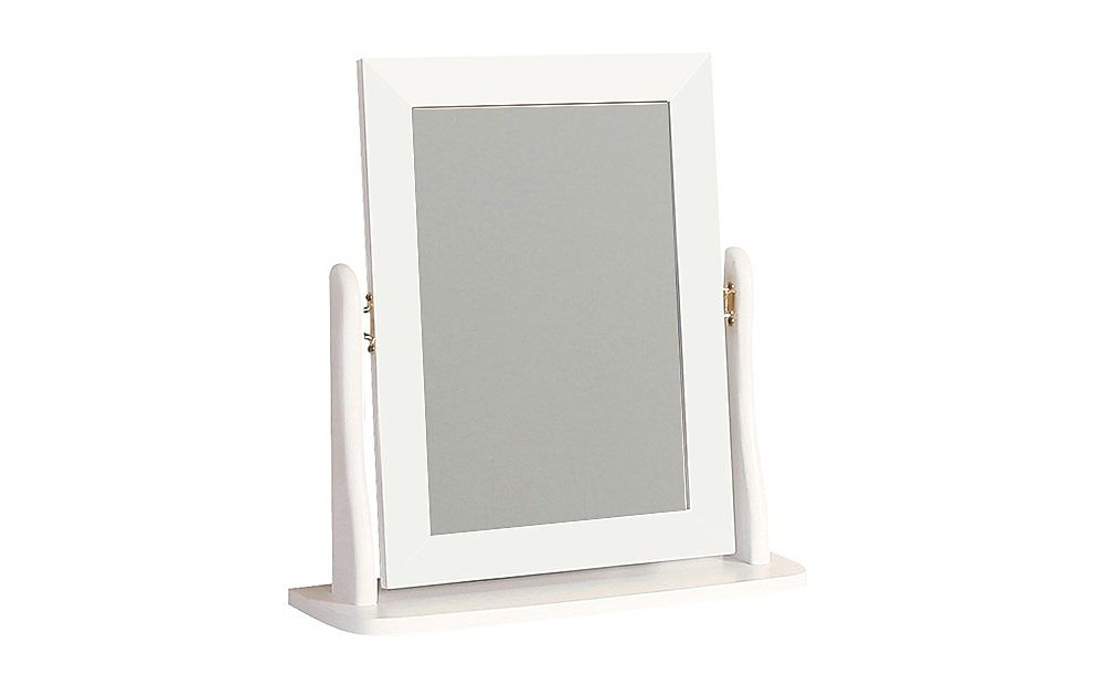 Baroque White Dressing Table Mirror