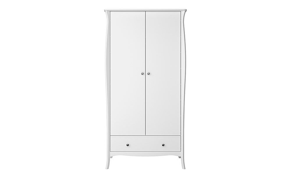Baroque White 2 Door 1 Drawer Wardrobe