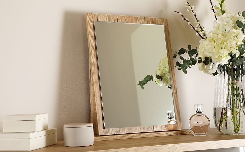 Vienna Bordeaux Oak Small Dressing Table Mirror