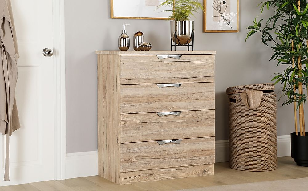 Camden Oak 4 Drawer Chest of Drawers | Furniture Choice