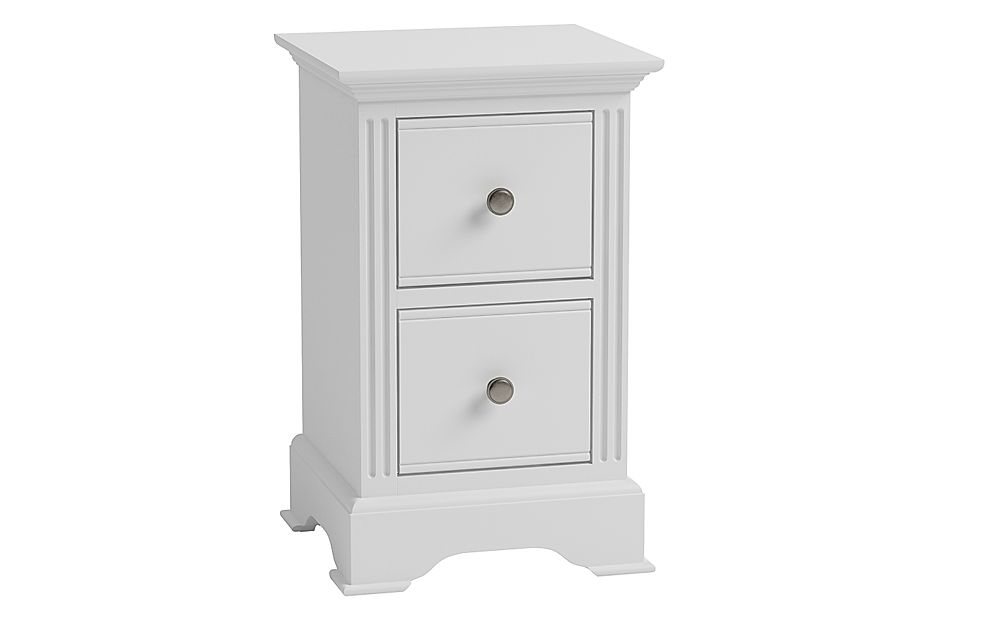 Berkeley Painted White 2 Drawer Bedside Table