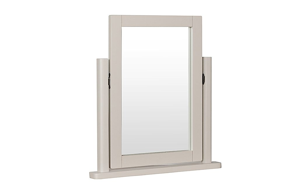 Newton Painted Grey and Oak Dressing Table Mirror