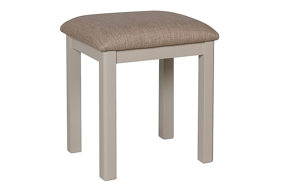 Newton Painted Grey and Oak Dressing Table Stool