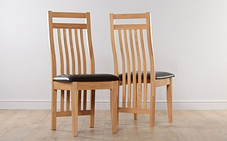 Bali Dining Chair Beech (Brown Seat Pad)