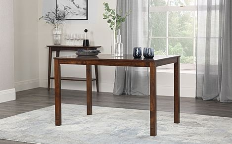 Milton Dark Wood Dining Room Table 120x75 (Dark)