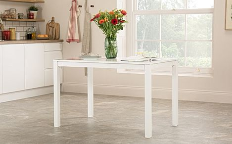 Milton White 120cm Dining Table