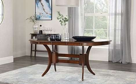 Townhouse Oval Extending Dining Room Table 150-180 (Dark)