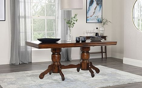 Chatsworth Dark Wood Extending Dining Table 150-180