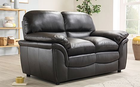 Rochester Dark Brown Leather 2 Seater Sofa