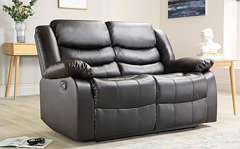 Sorrento Brown Leather 2 Seater Recliner Sofa