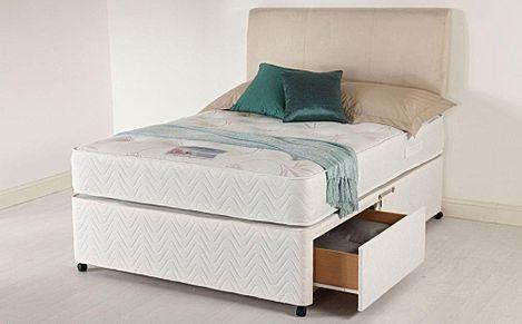 Healthopaedic Total Comfort 1000 Memory Foam 2 Drawer Small Single Divan Bed