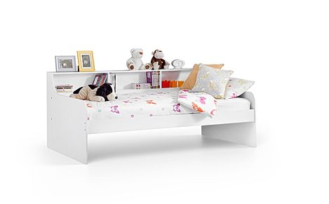 Virgo White Storage Day Bed Single