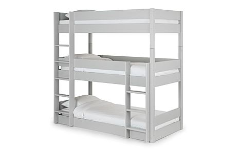 Harper Grey Triple Bunk Bed Single