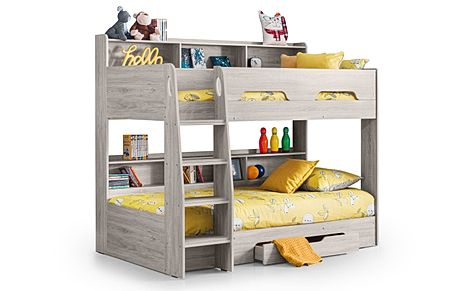 Apollo Grey Bunk Bed with Storage Single