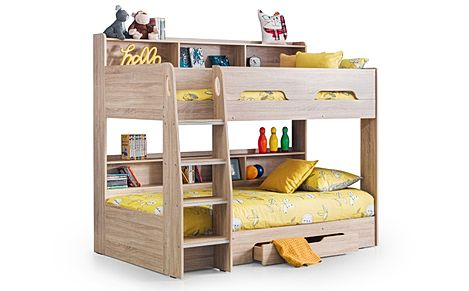 Apollo Oak Bunk Bed with Storage Single