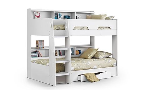 Apollo White Bunk Bed with Storage Single