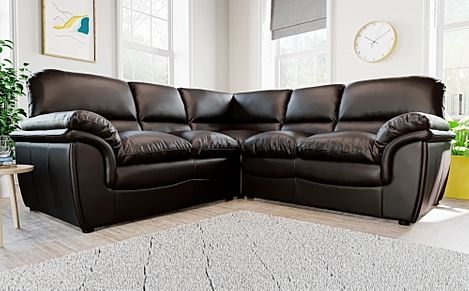 Rochester Brown Leather Corner Sofa
