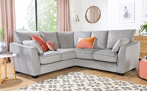 Claremont Grey Velvet Corner Sofa