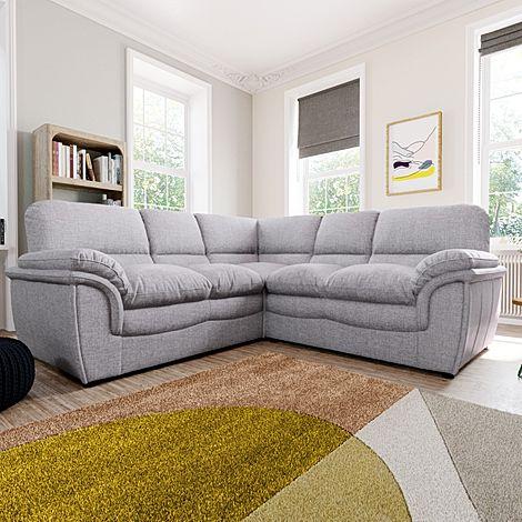 Rochester Grey Fabric Corner Sofa