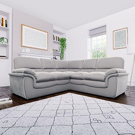 Rochester Grey Velvet Corner Sofa