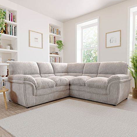 Rochester Natural Dotted Cord Fabric Corner Sofa