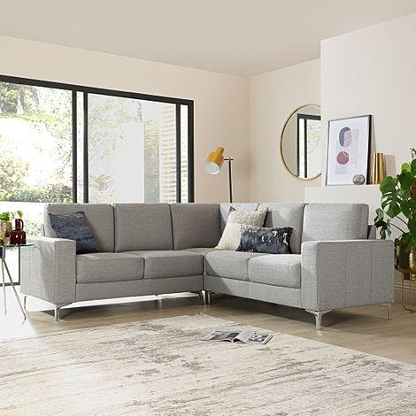 Baltimore Light Grey Fabric Corner Sofa