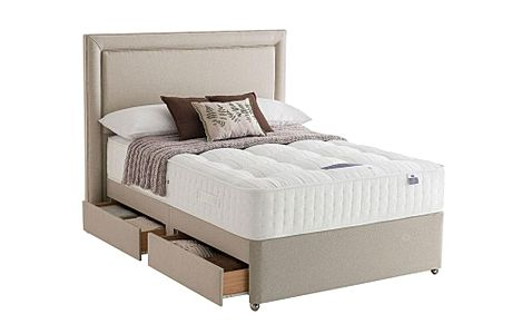 Silentnight Pocket Naturals Mirapocket 1350 Double 4 Drawer Divan Bed
