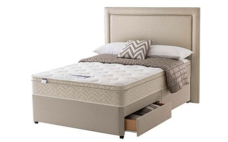 Silentnight Oslo Miracoil Memory Cushion Ottoman Double Divan Bed