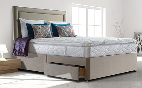 Sealy Pearl Luxury King Size 2 Drawer Divan Bed