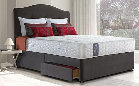 Sealy Pearl Ortho King Size 4 Drawer Divan Bed