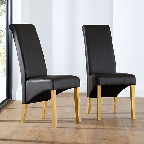 Richmond Brown Leather Dining Chair (Oak Leg)
