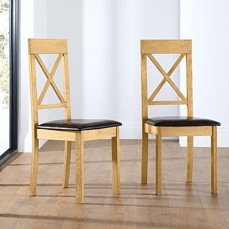 Kendal Dining Chair Oak (Brown Seat Pad)