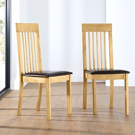 Oxford Natural Oak Dining Chair (Light)