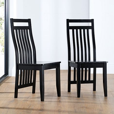 Java Painted Black Dining Chair