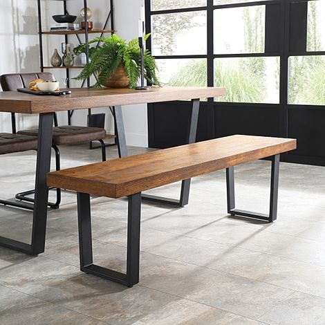 Addison Industrial Oak Dining Bench