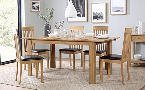 Bali Extending Dining Table and 6 Oxford Chairs Set