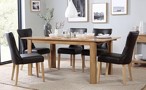 Bali Extending Dining Table & 4 Chairs Set (Bewley Dark Brown)