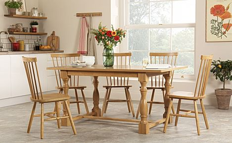 Devonshire Oak Dining Table with 4 Pendle Chairs