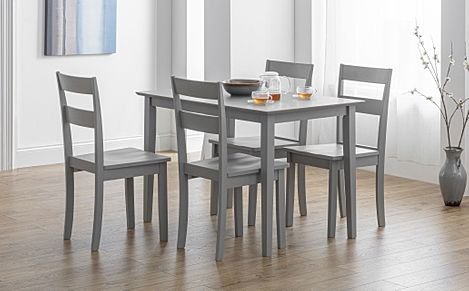 Weston Grey Dining Table with 4 Weston Chairs