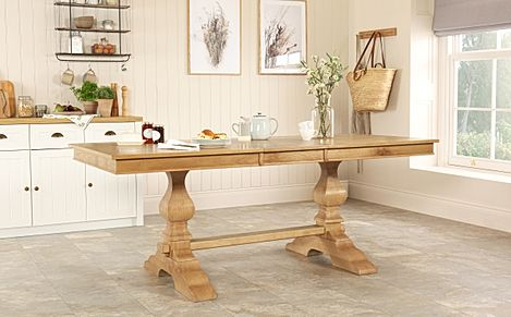 Cavendish Oak 160-200cm Extending Dining Table