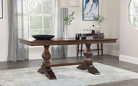 Cavendish Dark Wood Extending Dining Table 160 - 200cm