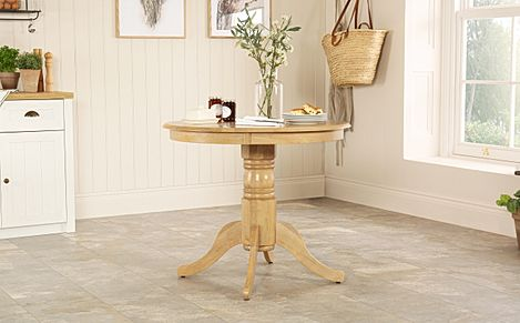 Kingston Round Oak Dining Table 90cm