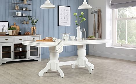 Chatsworth White 150-180cm Extending Dining Table