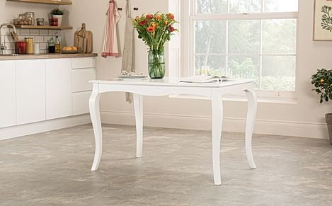 Clarendon White Dining Table 120cm